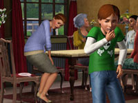 A kid playing a prank in The Sims 3: Generations Expansion Pack