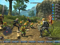 Multiplayer gameplay screenshot from White Knight Chronicles II
