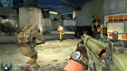 Screenshot from the Stadium multiplayer map from Call Of Duty: Black Ops First Strike content pack 1