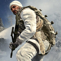 Soldier decked out for snow combat in a Soviet setting in Call of Duty: Black Ops