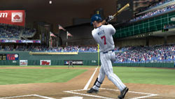 Pulling a ball into right field in MLB 11 The Show for PSP