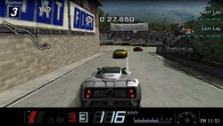 In-game racing screenshot from Gran Turismo for PSP