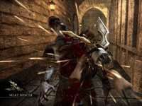 A bladed weapon used on a zombie in Rise of Nightmares