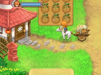 Using a horse and cart to haul goods in Harvest Moon 3D: Tale of Two Towns