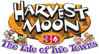 Harvest Moon 3D: Tale of Two Towns game logo