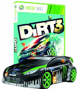 Ken Block Gymkhana remote controlled car with Xbox 360 box