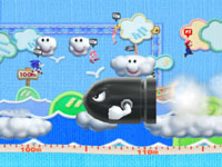 Multiplayer Long Jump Dream Game event from Mario & Sonic at the London 2012 Olympic Games