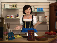 Shopping at the castle store in Nancy Drew: The Captive Curse