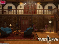 An in-game room from Nancy Drew: The Captive Curse
