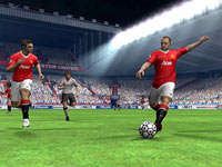 Wayne Rooney working the ball in the open field in FIFA Soccer 12