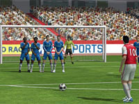 Setting up for a penalty kick in FIFA Soccer 12