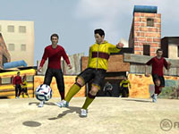 Playing head-to-head in a street game in FIFA Soccer 12