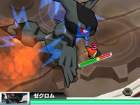 A Pokémon landing a combo during a battle in Pokémon Rumble Blast