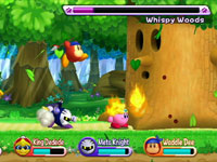 Multiplayer screenshot from Kirby's Return to Dream Land