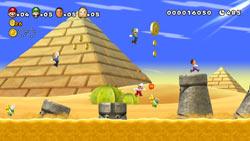 A New Super Mario Bros. Mii game screen