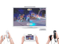 Wii U gameplay using the new controller and Wii Remote Plus controllers together