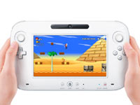Playing a game on the Wii U without the use of a TV