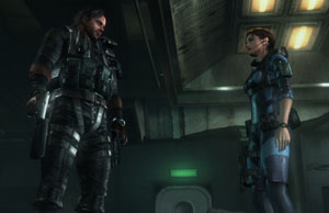 Parker Luciani and Jill Valentine in Resident Evil: Revelations