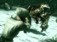 BSAA team members being pushed to the limit by attacking mutated wolves in Resident Evil: Revelations