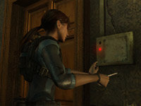 Puzzle play screen from Resident Evil: Revelations