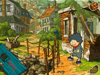 Investigating the destruction left by the Specter in Professor Layton and the Last Specter