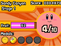 Medal count in Kirby: Mass Attack