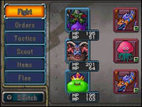 Suggesting battle options for your team of monsters in Dragon Quest Monsters: Joker 2