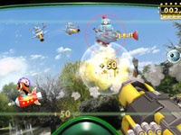 Botz Blast mini-game screenshot from Little Deviants