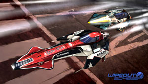 Challenging for the lead in a race in WipEout 2048