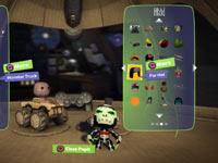 A character and kart customization screen from LittleBigPlanet Karting