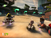 A multiplayer race from LittleBigPlanet Karting