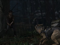 Jodie Holms cornered by attack dogs in Beyond: Two Souls