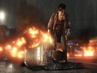 Jodie Holms warning a defeated police officer to back off in Beyond: Two Souls