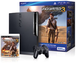 PS3 320 GB Uncharted 3 bundle