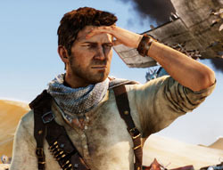 Hero shot of Nathan Hale from Uncharted 3: Drake's Deception