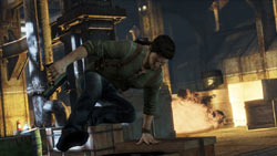 Nathan Hale on the move in Uncharted 3: Drake's Deception