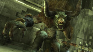 The Minataur boss from the God of War: Origins Collection