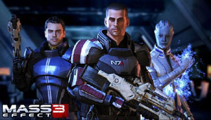 Shepard and friends from Mass Effect 3