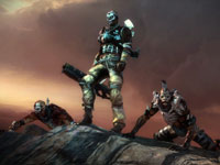 The mutant Outcast leader and his band of warriors in Starhawk
