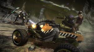 Vehicular combat in Starhawk