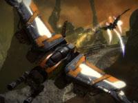 Aerial combat in Starhawk