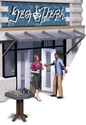 The Nibbles Cafe available in The Sims 3: Town Life Stuff Pack