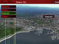 Explorable areas of Sumaru City from Shin Megami Tensei: Persona 2 Innocent Sin