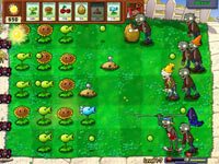 Daytime gameplay screen from Plants vs. Zombies: Game of the Year Disco Zombie Limited Edition