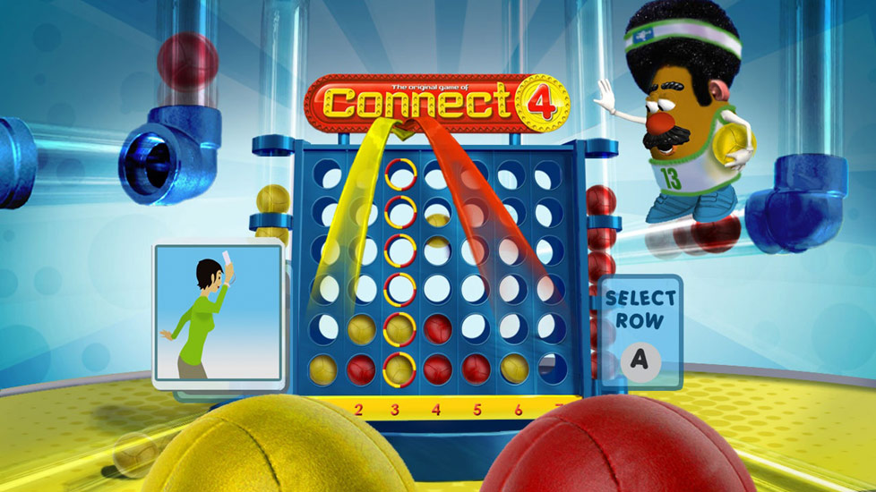 Connect 4 Basketball Screenshot From Family Game Night The Show Featuring Wii Remote