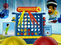 Connect 4 Basketball screenshot from Family Game Night 4: The Game Show featuring Wii Remote control prompts