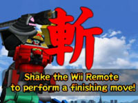 Performing a finishing move in Power Rangers Samurai for Wii