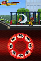 Both screens from Power Rangers Samurai for DS