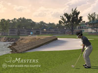 Bubba Watson shooting for the green in Tiger Woods PGA Tour 12: The Masters