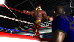 Hulk Hogan inviting you into the ring in Hulk Hogan's Main Event